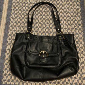 Coach Campbell Belle Black Leather Handbag VGUC